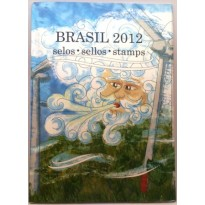 Fôlder dos Correios com a Coleção de Selos do Brasil - 2012