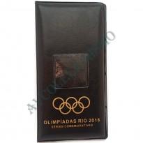 Álbum para as moedas comemorativas das olimpíadas + bandeira - Rio 2016