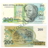 C215 - 200 Cruzeiros - 1990 - Serie 0001 - FE