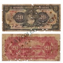 R185  - 20 Mil Reis - 1927 - Regular