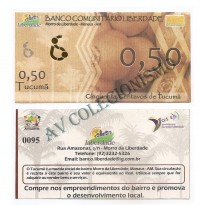 MSB001 - Moeda Social - Tucumã - Tc$ 0,50 - B. Liberdade - Manaus - AM - FE