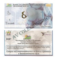 MSB002 - Moeda Social - Tucumã - Tc$ 1,00 - B. Liberdade - Manaus - AM - FE