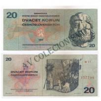 Cédula - Checoslováquia -1970 - 20 Korun