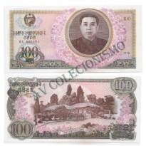 Cédula - Coreia do Norte  - Km022  - 100  Won - 1978 - FE