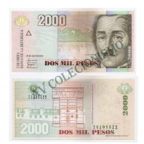 Cédula - Colombia - Km451  - 2000 Pesos - 2010 - FE