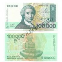 Cédula - Croacia - Km027 - 100000 Tisuca -1993 - FE