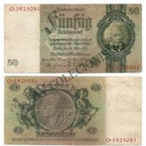 Cédula - Alemanha - Km182a - 50 Mark -1933 - MBC