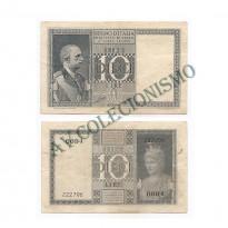 Cédula - Italia - Km025 - 10 Lire -1944  - MBC/SOB