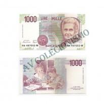 Cédula - Italia - Km114a - 1000 Lire -1990 - FE
