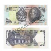 Cédula - Uruguai - Km061a - 50 Novos Pesos - 1988 - FE