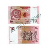Cédula - Congo - Km082 - 10 Centimes - 1997 - FE