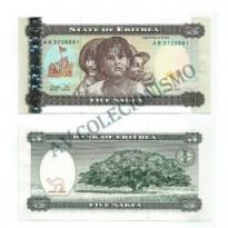 Cédula - Eritrea - Km002 - 5  Nafka - 1997 - FE