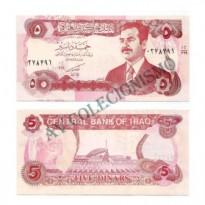 Cédula - Iraque - Km080 - 5 Dinars - 1992 - FE