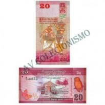 Cédula - Sri Lanka - #123 - 20  Rupees - 2010 - FE