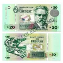 Cédula - Uruguai - Km083b - 20  Pesos - 2011 - FE