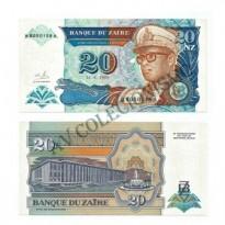 Cédula - Zaire - Km056 - 20 Nouveau Zaire - 1993 - FE