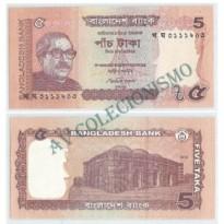 Cédula - Bangladesh - Kmxxx - 5 Taka - 2012- FE