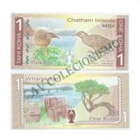 Cédula - Chatham Island - 1 Koha - 2013 - FE