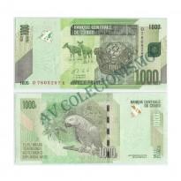 Cédula - Congo - Kmnn - 1000 Francos - 2013 - FE