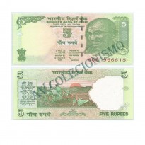 Cédula - India - Kmnn - 5 Rupias - 2010 - FE