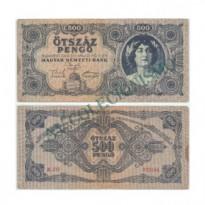 Cédula - Hungria - Km117a - 500 Pengo - 1945 - MBC