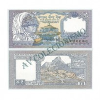 Cédula - Nepal  - #037 - 1 Rupia - 1991 - FE