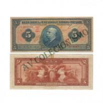 R100B -  5 Mil Reis - 1936 - SOB