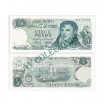 Cédula - Argentina - Km288 - 5 Pesos - 1971 a 73 - FE