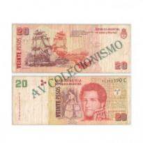 Cédula - Argentina - Km349 - 20 Pesos - 1999 a 2002 - MBC
