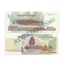 Cédula - Camboja - Km053 - 100 Riels - 2001 - FE