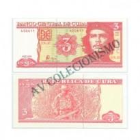 Cédula - Cuba - Km123 -  3 Pesos  - 2004 - FE