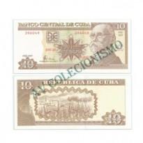 Cédula - Cuba - Km117g -  10 Pesos  - 2005 - FE