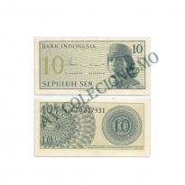 Cédula - Indonesia - Km092 -  10 Sen - 1964 - FE