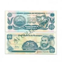 Cédula - Nicaragua - Km170 - 25 Centavos - 1991 - FE
