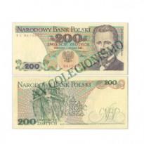 Cédula - Polonia - #144c - 200 Slotych - 1988 - FE