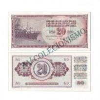 Cédula - Yugoslavia - Km088a - 20 Dinara - 1978 - FE