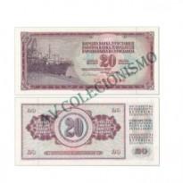 Cédula - Yugoslavia - Km088b - 20 Dinara - 1981 - FE