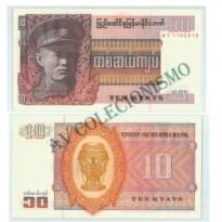 Cédula - Burma -Km058 - 10  Kyats - 1973 - FE