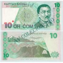 Cédula - Quirgistão - Km014 - 10 Som - 1997 - FE