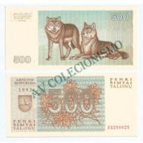 Cédula - Lituania - Km046 - 500 Talonas - 1993 - FE