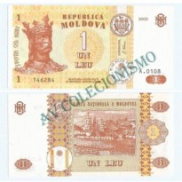 Cédula - Moldávia - Km008 - 1 Leu - 2005 - FE