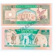 Cédula - Somalilandia - Km001 - 5  Shillings - 1994 - FE