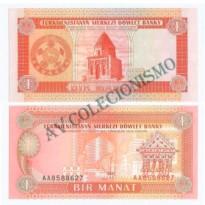 Cédula - Turcomenistao - Km001 - 1 Manat - 1993 - FE