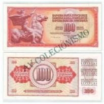 Cédula - Yugoslavia - Km090c - 100 Dinara - 1986 - FE