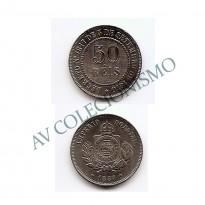 MNI 003 - Moedas 50 réis - 1887 - SOB/FC