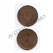MES - PAR - Km04.1 - 4 Centesimos - Paraguai - 1870