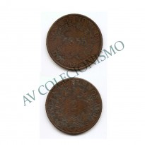 MES - ARG011 - 2 Reales- Argentina - 1855