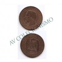 MES - FRA - KM0771.4 - 10 Centavos - Franca - 1854