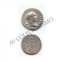 Moeda Império Romano - 1 DENÁRIO DE PRATA - Trajanus - 102 d.C