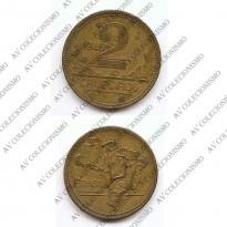 MVM 241 - Moeda 2 Cruzeiros - Bronze-Aluminio - 1945 - com sigla - MBC